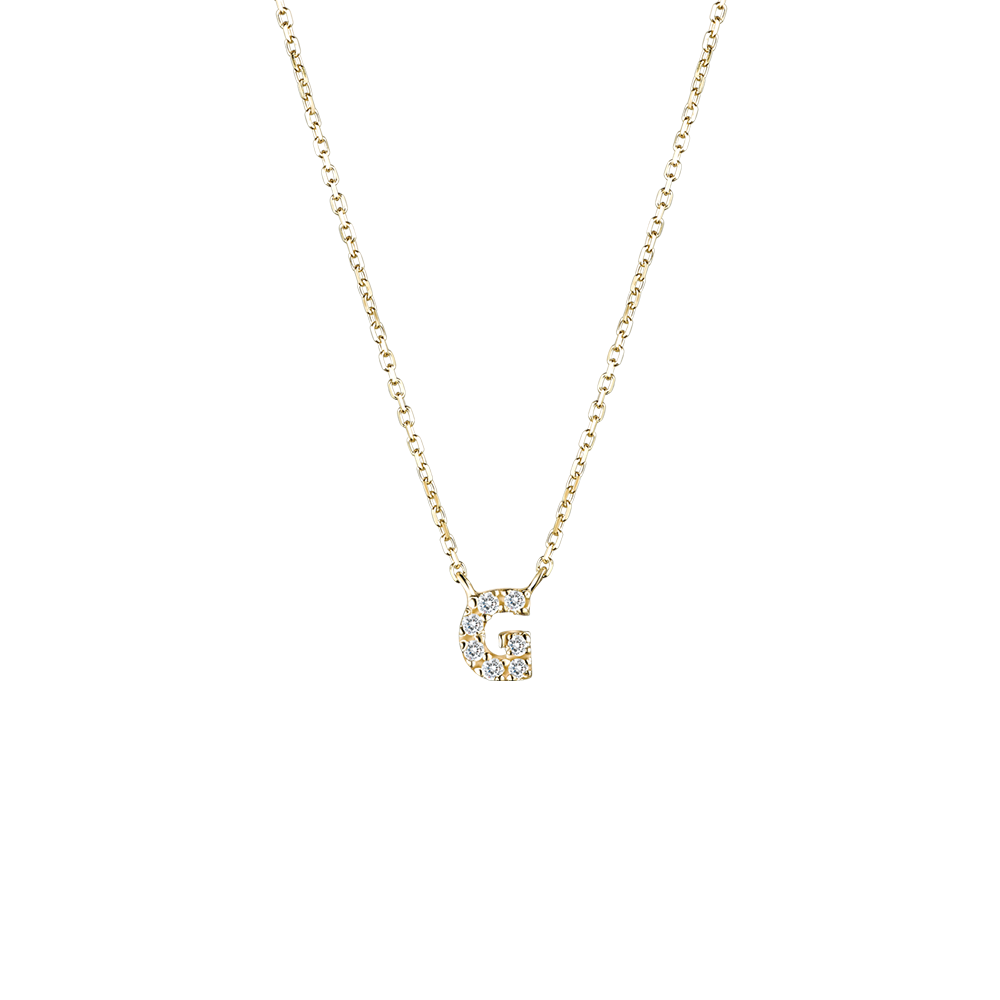 NA0007G Alphabet Necklace