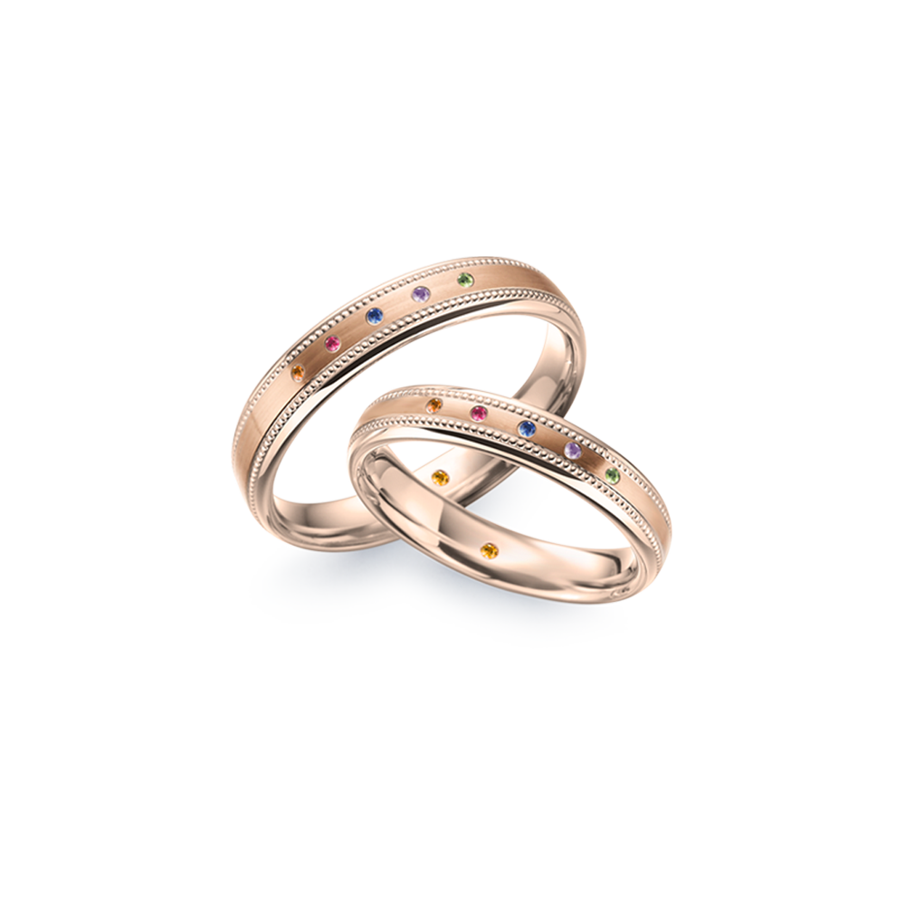 德國工藝acredo Wedding Rings- RMF0578_18K
